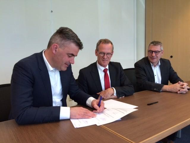 Van links naar rechts: Geert Lubse, Cees van Loon en Noud Smits