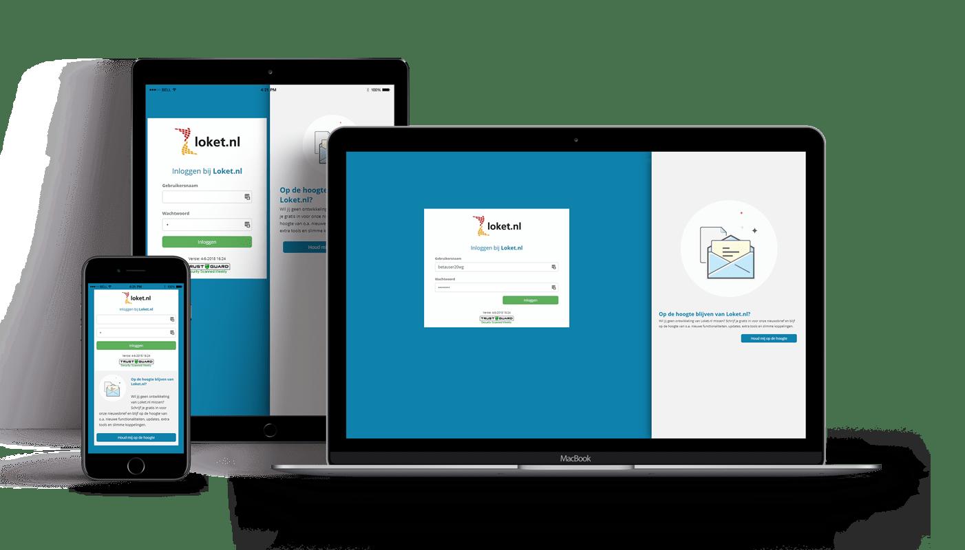 De nieuwe versie van Loket.nl beschikt over een volledig responsive design