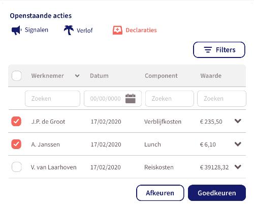 Digitaal declareren - Openstaande acties - Loket.nl