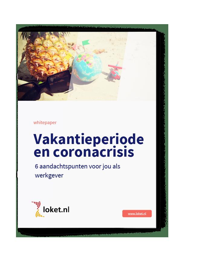 Whitepaper Vakantieperiode Coronacrisis cover