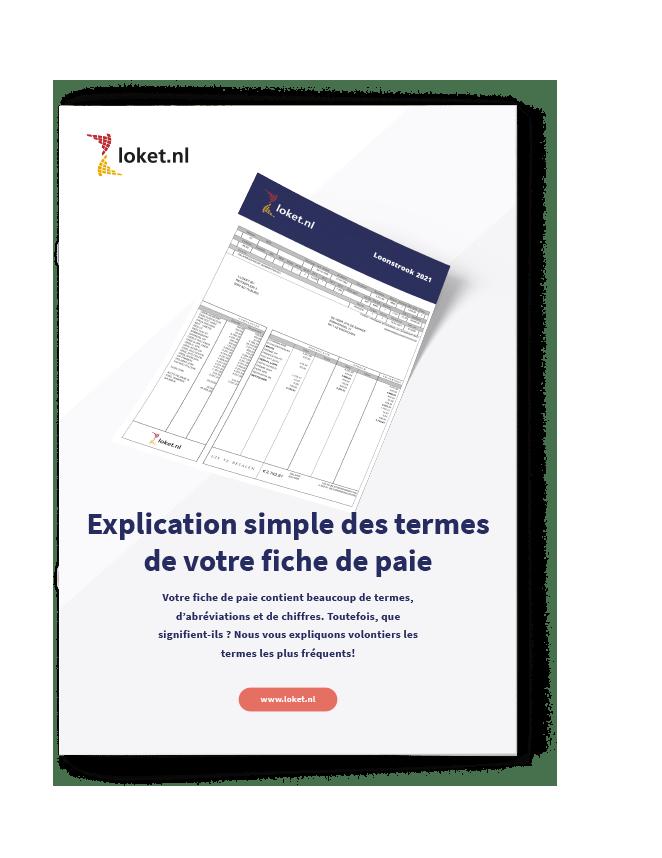 uitleg loonstrook 2021 Frans